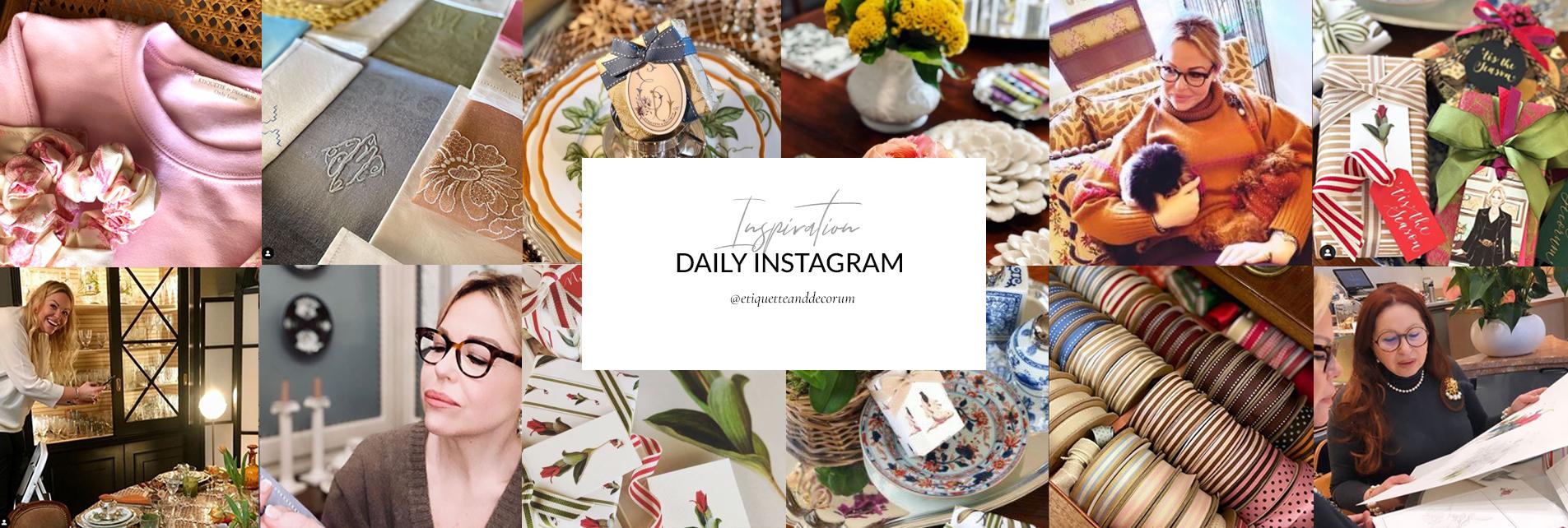 Etiquette and Decorum Instagram